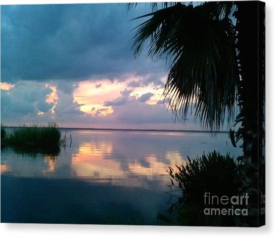 Black Hammock Sunset 3 Canvas Print