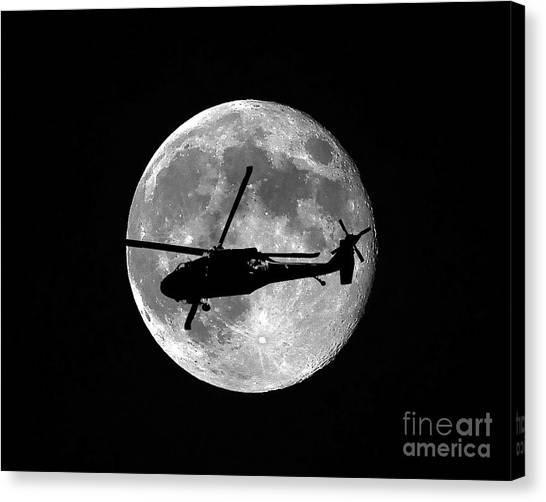 Black Hawk Moon Canvas Print