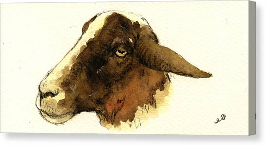 Black Forest Canvas Print - Black Head Sheep by Juan  Bosco