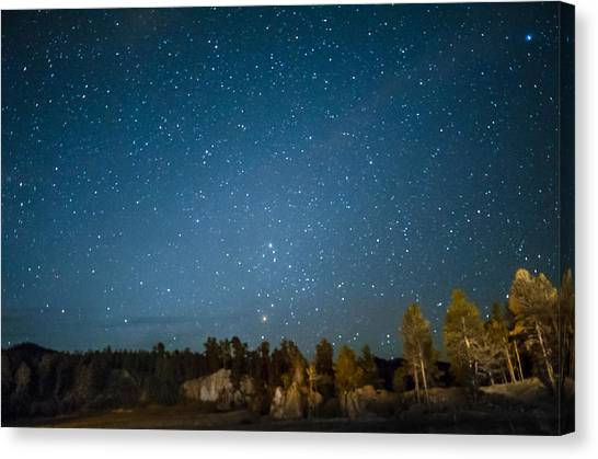 Black Hills Night Canvas Print