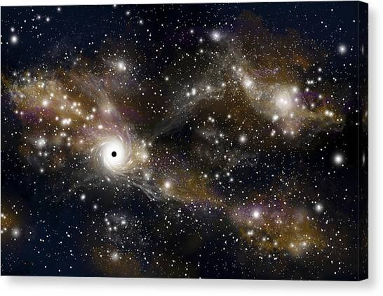 Black Hole No.5 Canvas Print