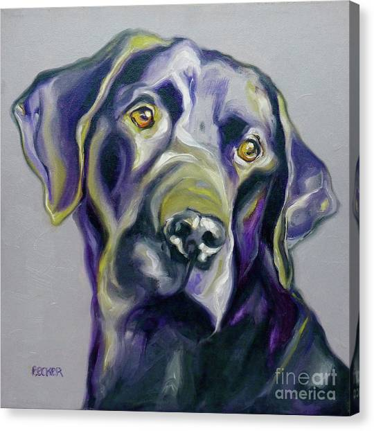 Black Lab Prize Canvas Print