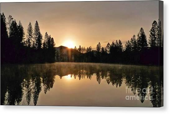 Black Lace Sunrise Canvas Print