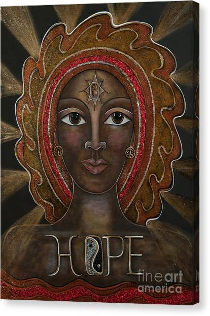 Hope - Black Madonna Canvas Print
