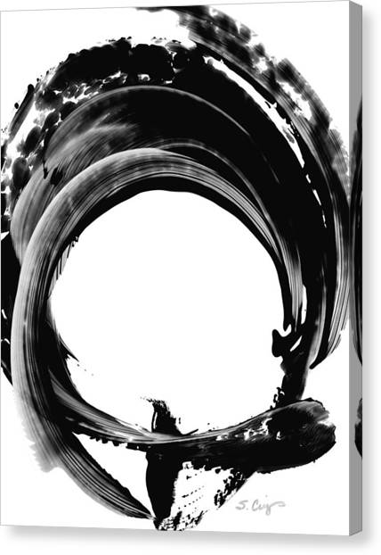 Black And White Art Canvas Print - Black Magic 304 By Sharon Cummings by Sharon Cummings