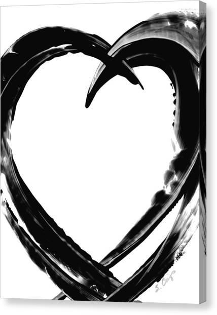 Heart Canvas Print - Black Magic 311 By Sharon Cummings by Sharon Cummings