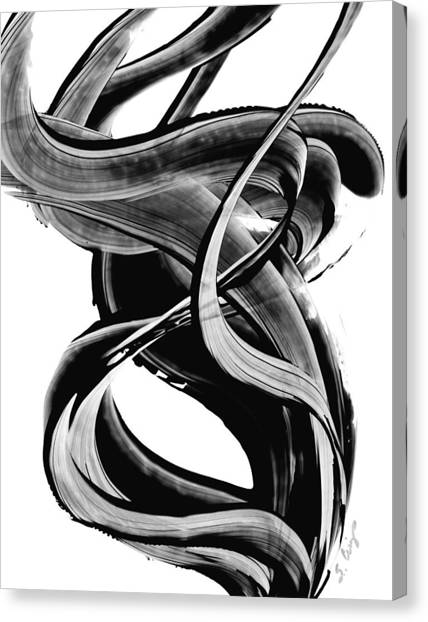 Canvas Print featuring the painting Black Magic 314 By Sharon Cummings by Sharon Cummings