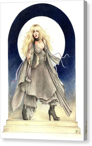 Stevie Nicks Canvas Print - Black Moons by Johanna Pieterman