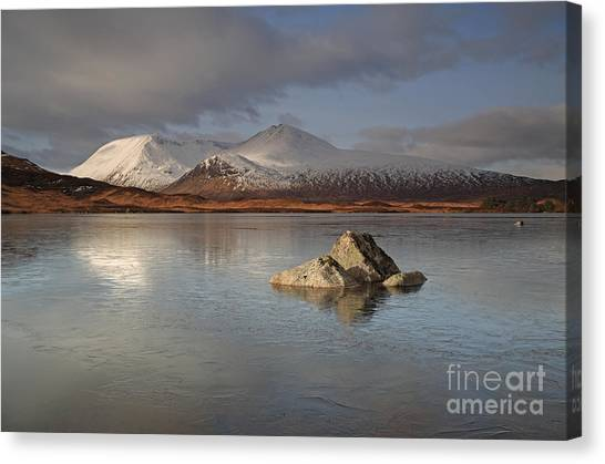 Black Mount And Lochan Na H-achlaise Canvas Print