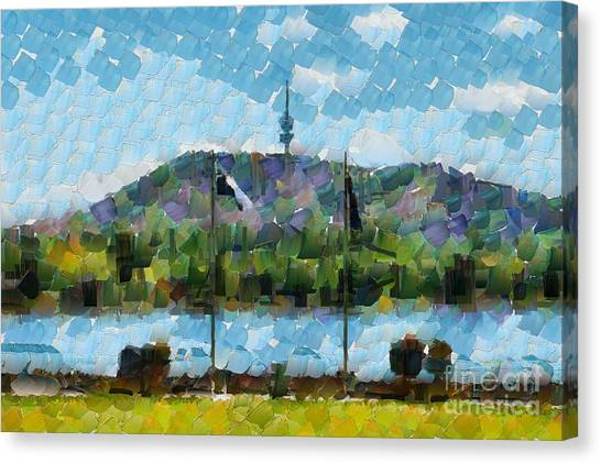 Black Mountain View Canvas Print