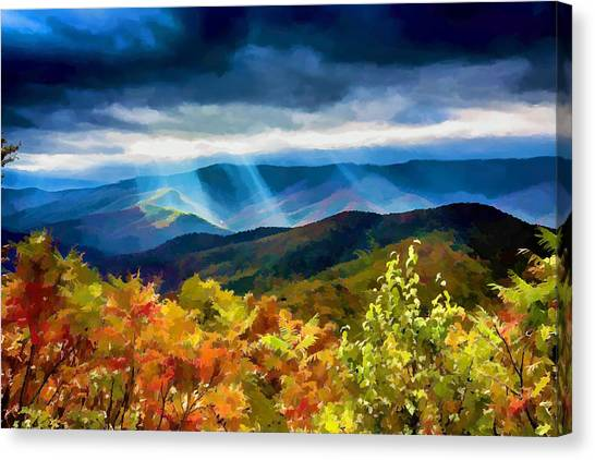 Black Mountains Overlook On The Blue Ridge Parkway Canvas Print