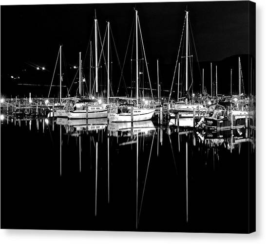 Jibbing Canvas Print - Black Night  by Frozen in Time Fine Art Photography