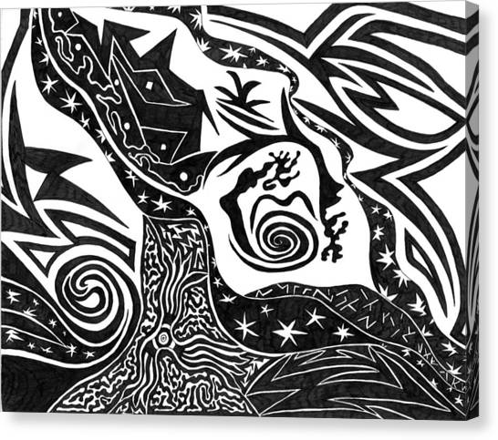 Black Night Canvas Print by Kerri White