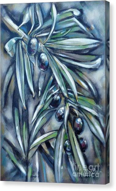 Black Olive Branch 200210 Canvas Print