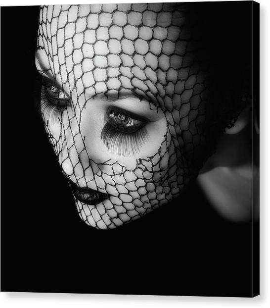 Nets Canvas Print - Black by Oren Hayman