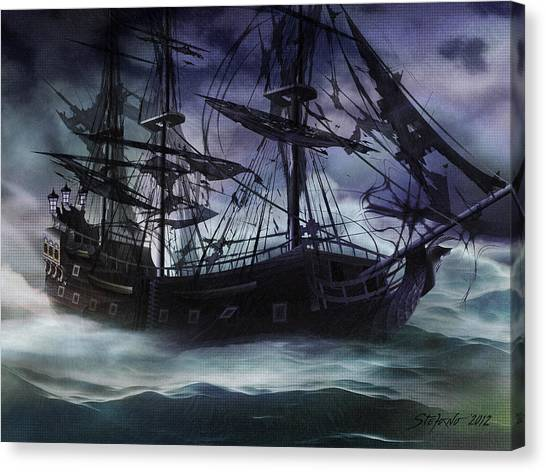 Black Pearl - Troubles Again Canvas Print