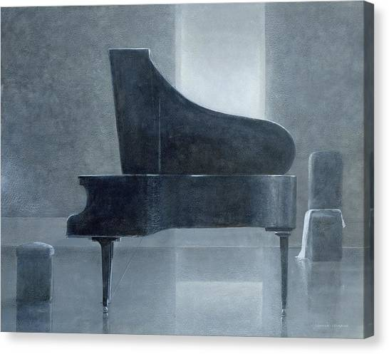 Pianos Canvas Print - Black Piano 2004 by Lincoln Seligman