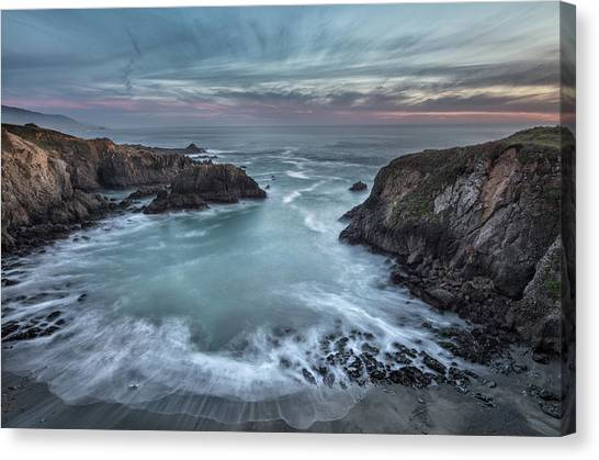 Cliffs Canvas Print - Black Point Cove by Greg Barsh