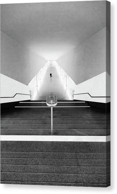 Subway Canvas Print - Black Point by Olavo Azevedo