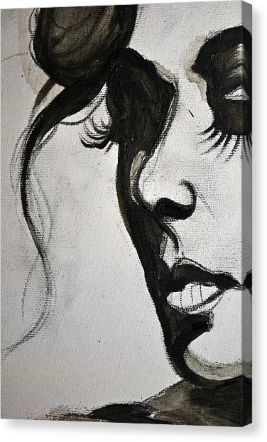 Black Portrait 16 Canvas Print