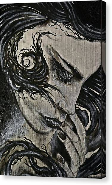 Black Portrait 4 Canvas Print