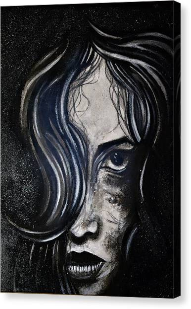Black Portrait 5 Canvas Print
