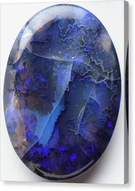 Gemstones Canvas Print - Black Precious Opal by Dorling Kindersley/uig
