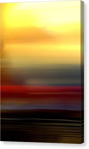 Black Red Yellow Canvas Print