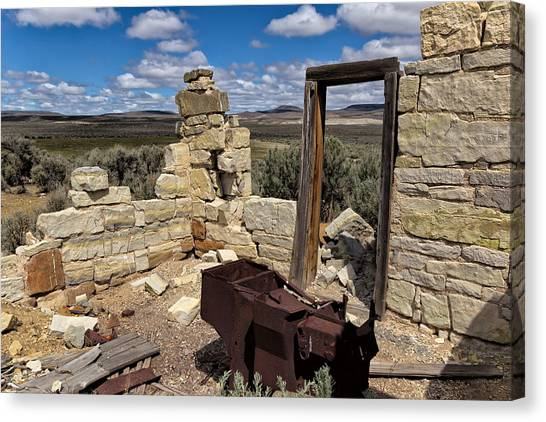 Black Rock Desert Canvas Print - Black Rock Homestead by Kathleen Bishop