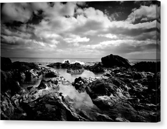 Black Rocks 1 Canvas Print