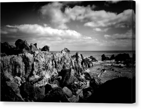 Black Rocks 3 Canvas Print