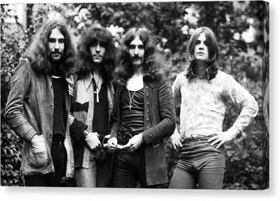 Black Sabbath 1970 Canvas Print