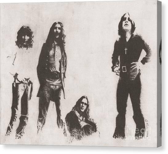 God Canvas Print - Black Sabbath by Jeff Ridlen