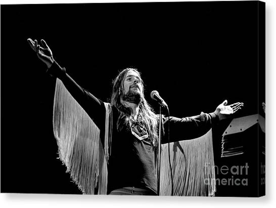Chris Walter Canvas Print - Black Sabbath Ozzy 1977 #2 by Chris Walter