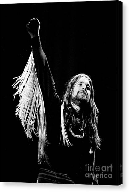 Chris Walter Canvas Print - Black Sabbath Ozzy 1977 by Chris Walter
