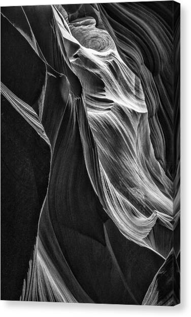 Black Sandstone Canvas Print