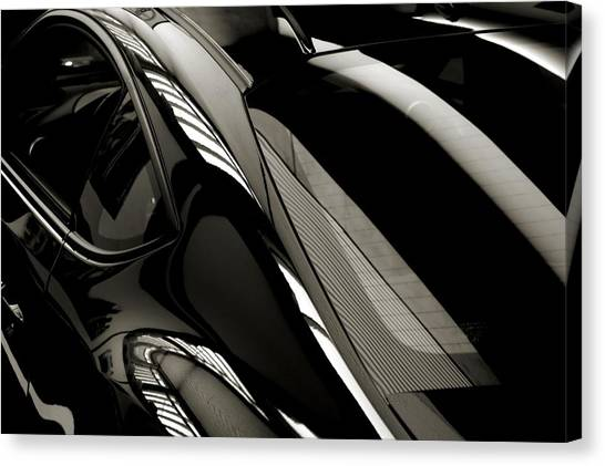 Black Satin Canvas Print