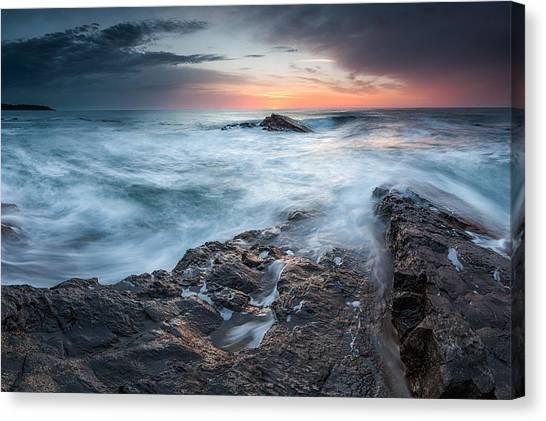 Black Sea Rocks Canvas Print