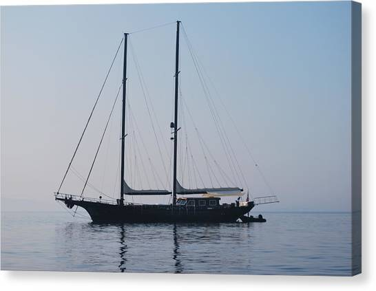Black Ship 1 Canvas Print