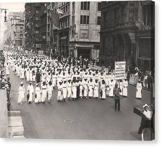 Racism Canvas Print - Black Silent Protest March by Underwood Archives