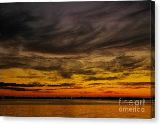 Black Sunset Canvas Print
