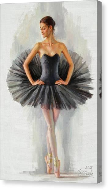 Black Swan Canvas Print by Serguei Zlenko