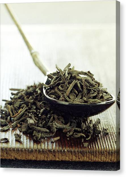 Tea Leaves Canvas Print - Black Tea Leaves by Romulo Yanes