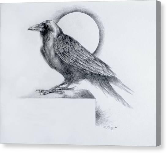 Raven Canvas Print - Black Watch by Derrick Higgins