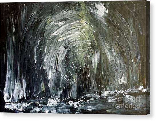 Black Water Cave Canvas Print
