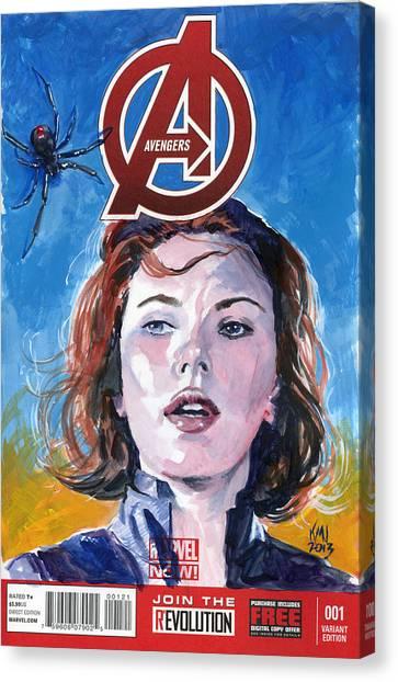 Black Widow Canvas Print - Black Widow Avengers by Ken Meyer