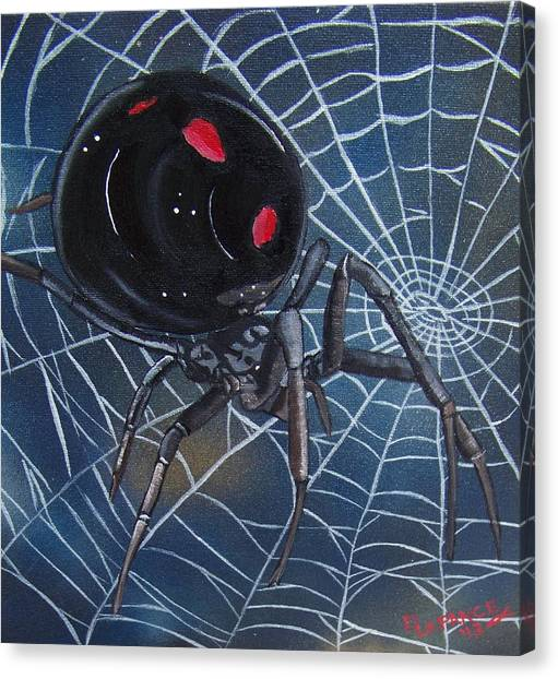 Black Widow Canvas Print - Black Widow by Debbie LaFrance