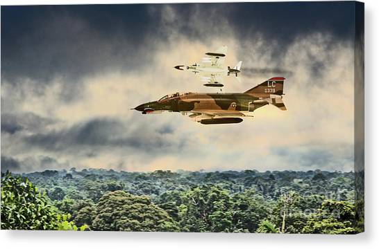 Black Widow Canvas Print - Black Widows. F4 Phantom by J Biggadike