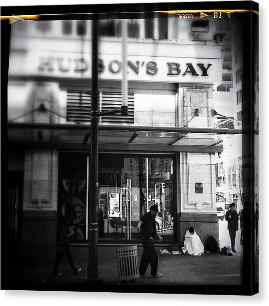 Bacon Canvas Print - #blackandwhite #vancouver by Neil Bacon