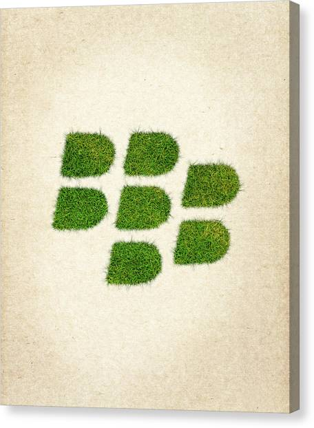 Blackberries Canvas Print - Blackberry Grass Logo by Aged Pixel